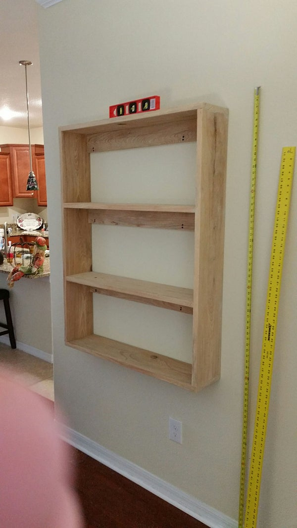 Floating Bookshelf  Using French Cleets