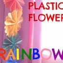 Plastic Flower Rainbow