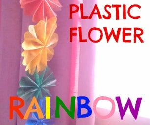 Plastic Flower Rainbow
