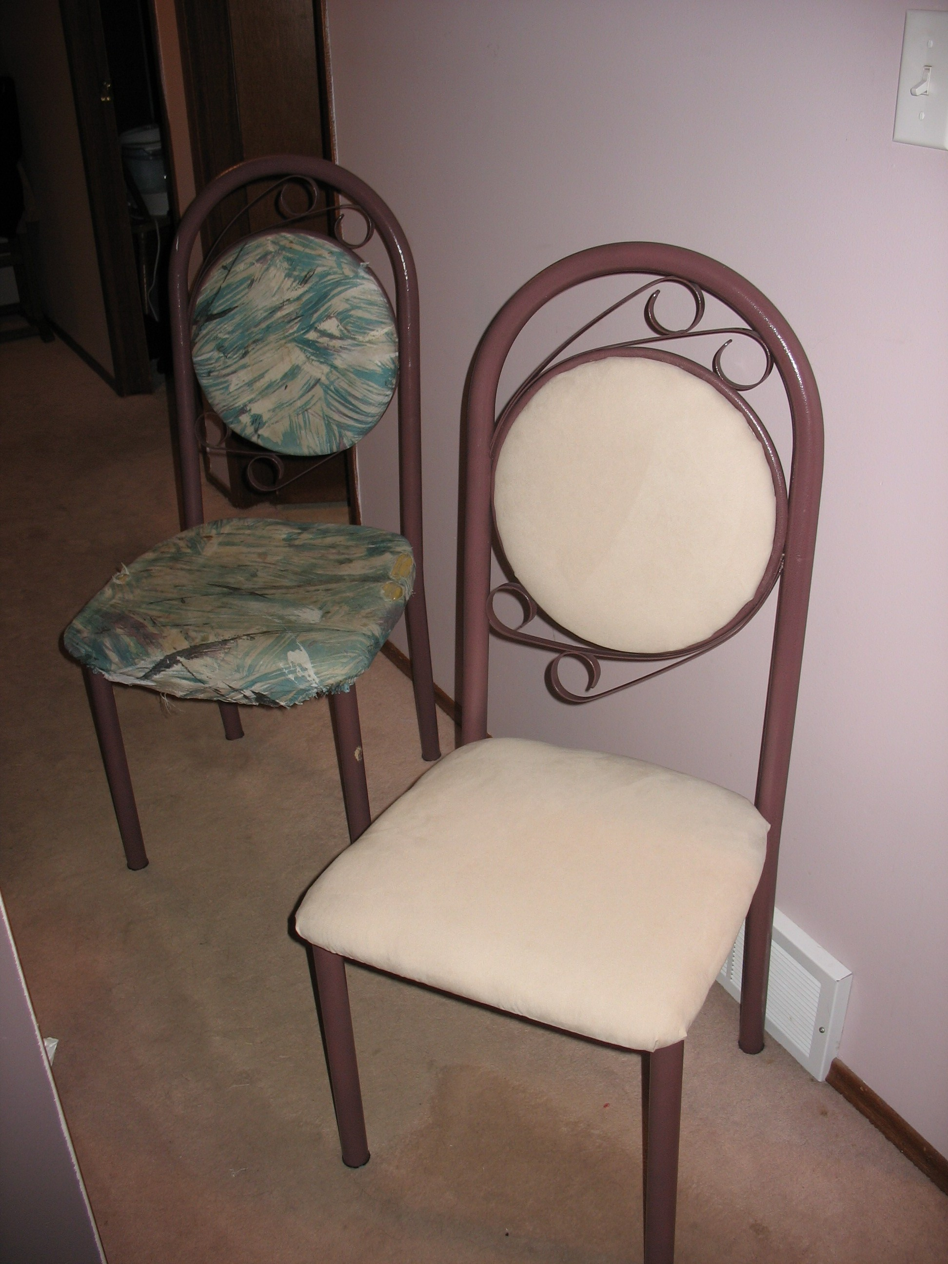 Recovering Kitchen Chairs