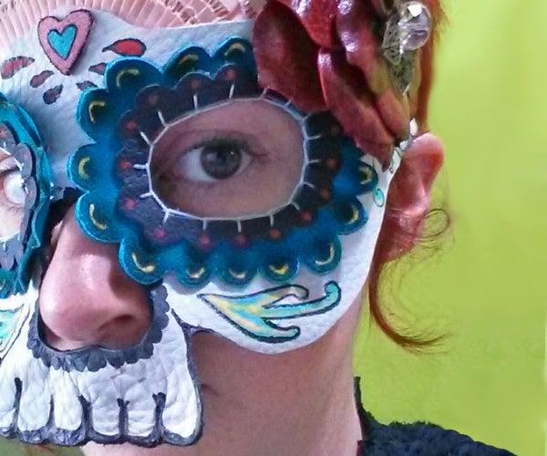 Leather Calavera Mask