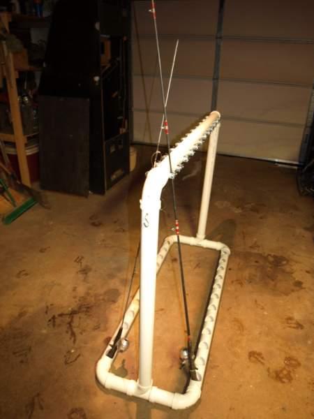 PVC Fishing Rod Rack