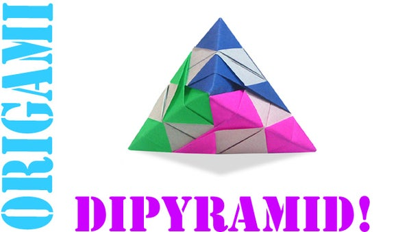 How to Make an Origami 3D Checkered Dipyramid (Hexahedron)!
