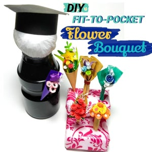 Fit-to-pocket Flower Bouquet From Paper