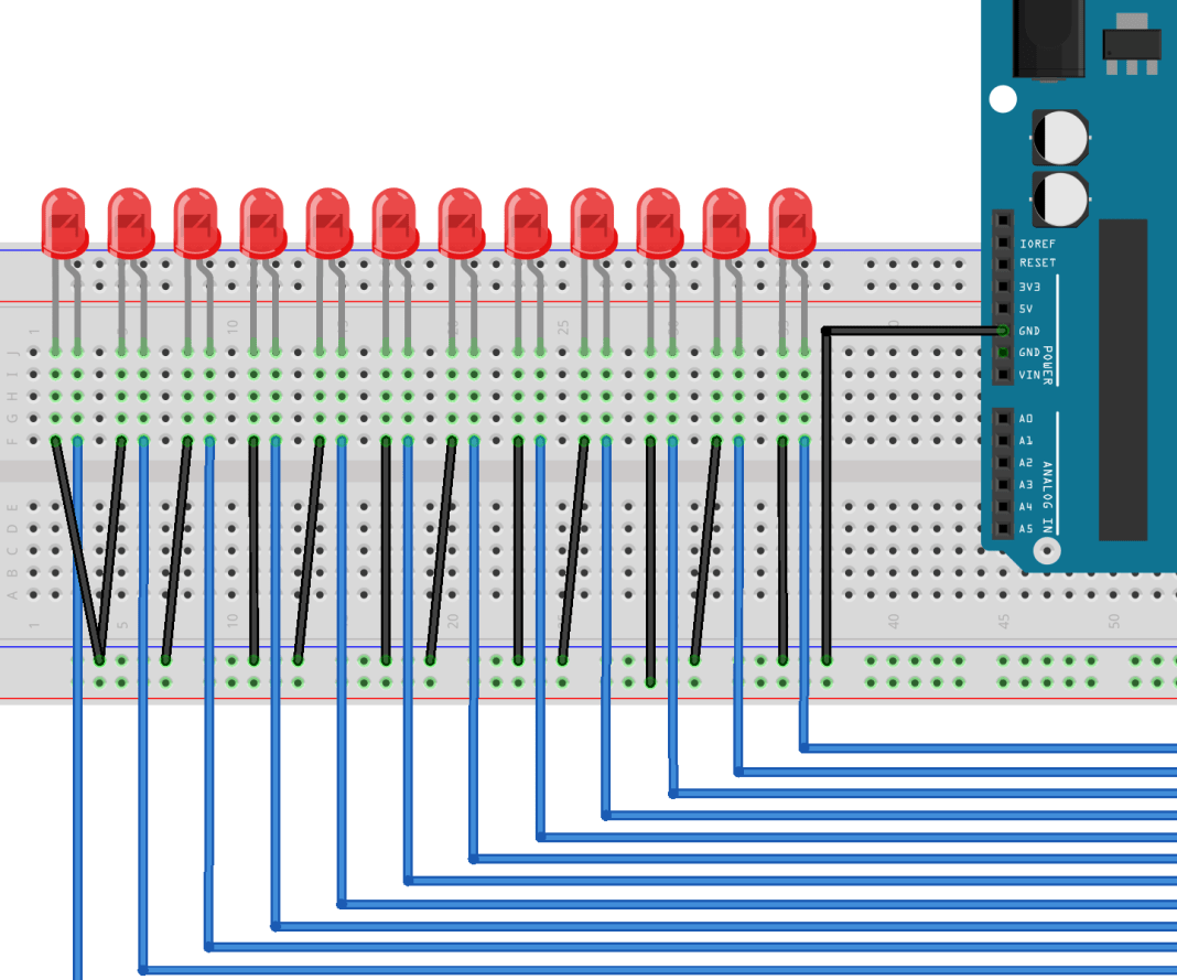 Multiple Led Pattern With Arduino