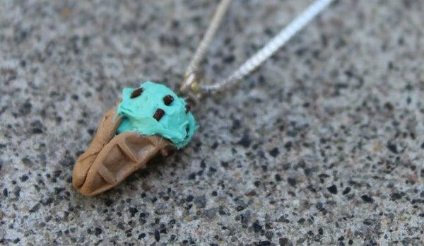 Polymer Clay Ice Cream Cone Charm