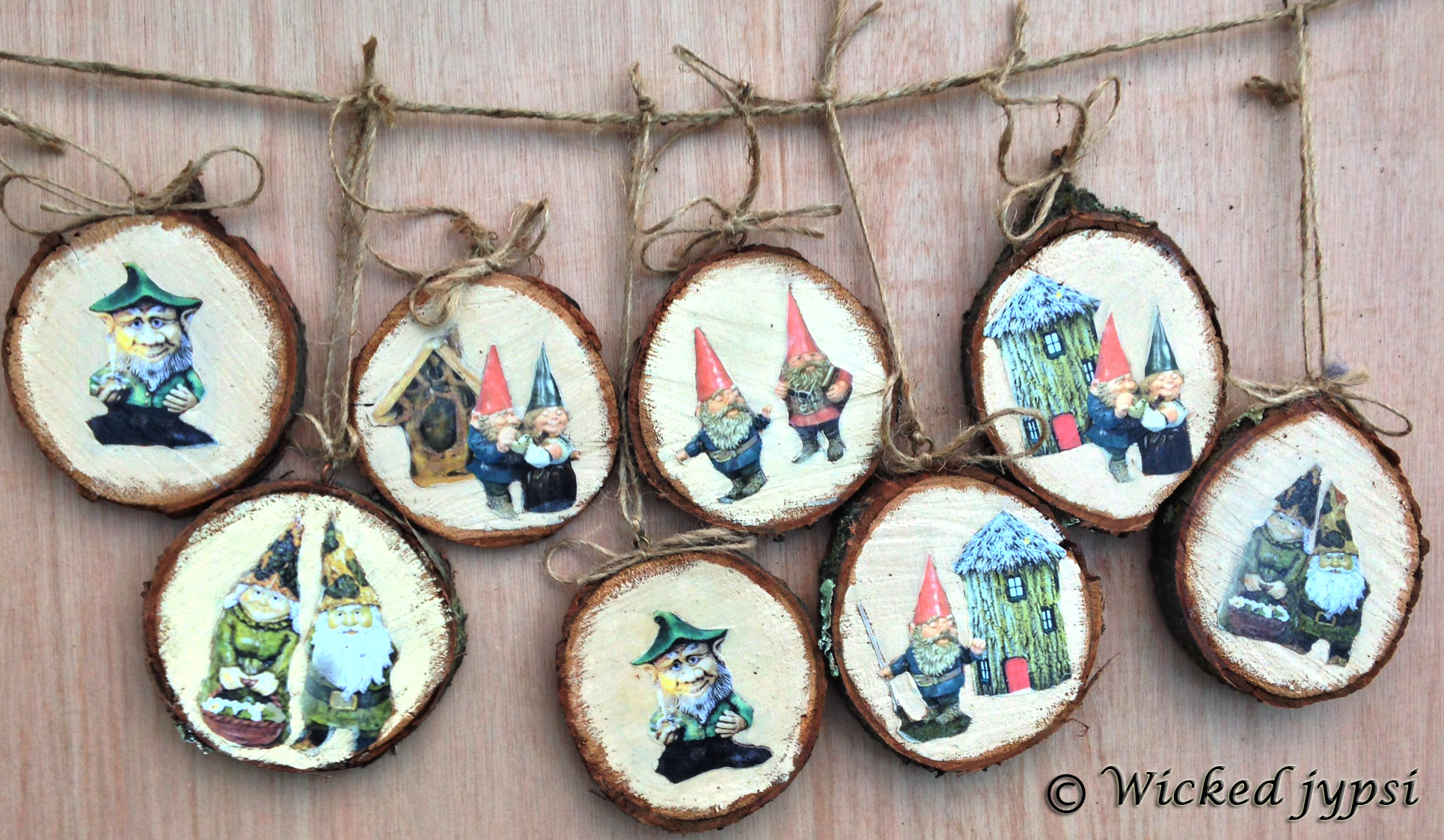 Sliced Wood Ornaments - Year Round