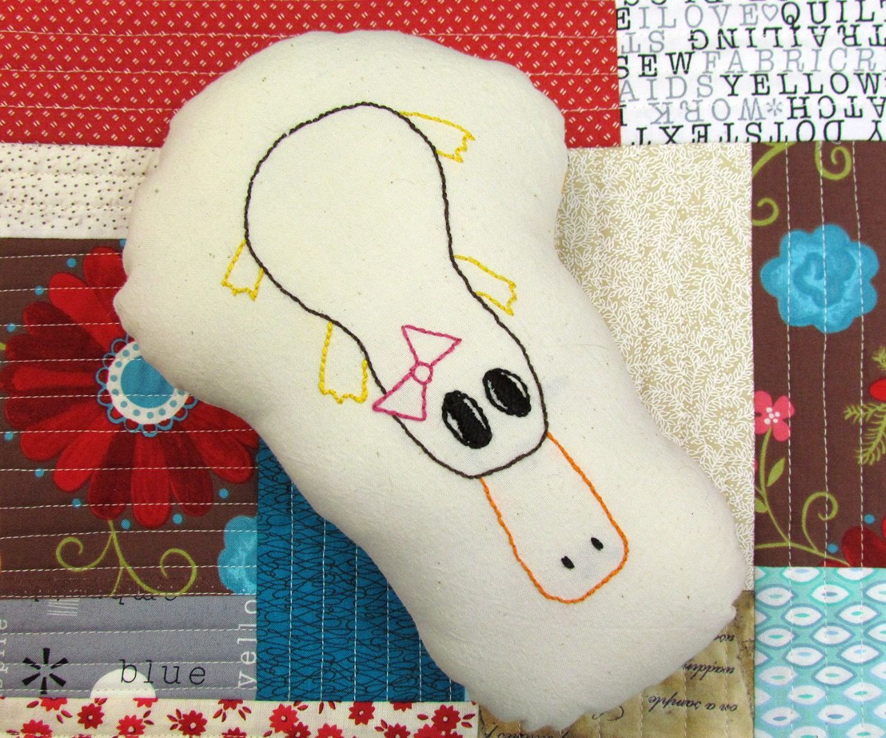 How to create a soft toy from embroidery