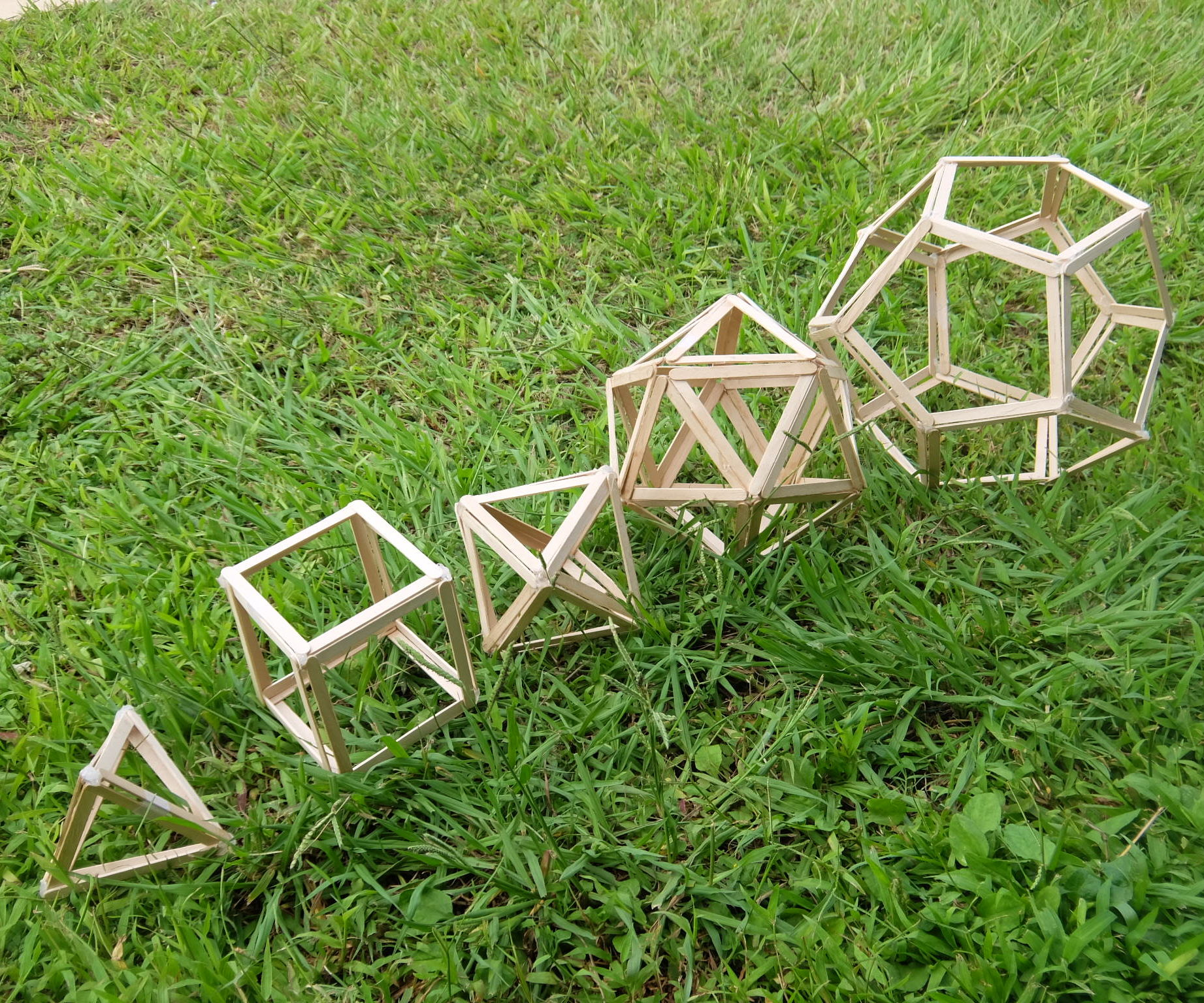5 Platonic Solids Popsicle Sticks Models DIY