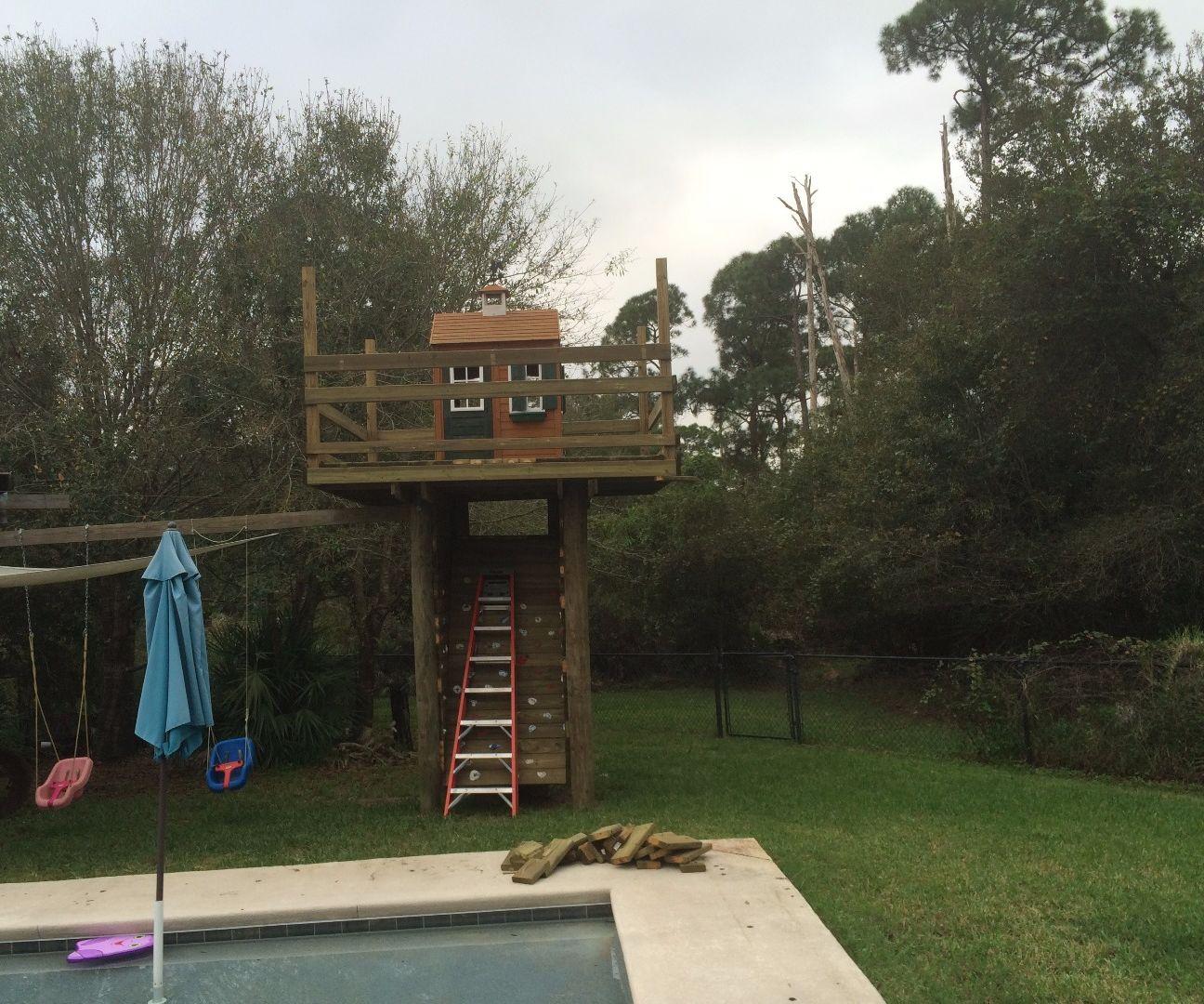 Climbing Wall Treehouse