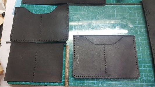 Sew Card Slot With Lining Piece, But Only Sew Middle Stitching Line.