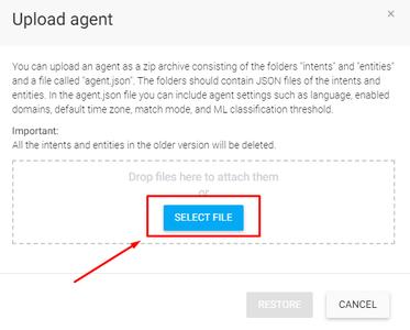 Dialogflow - Select File: