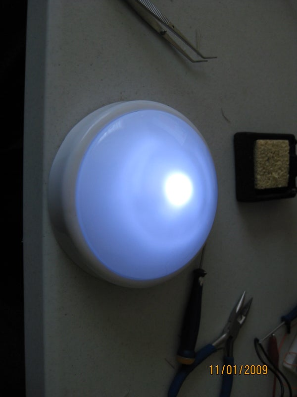 Tap Light LED Auto-Off Hack