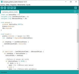 Código En El IDE De Arduino