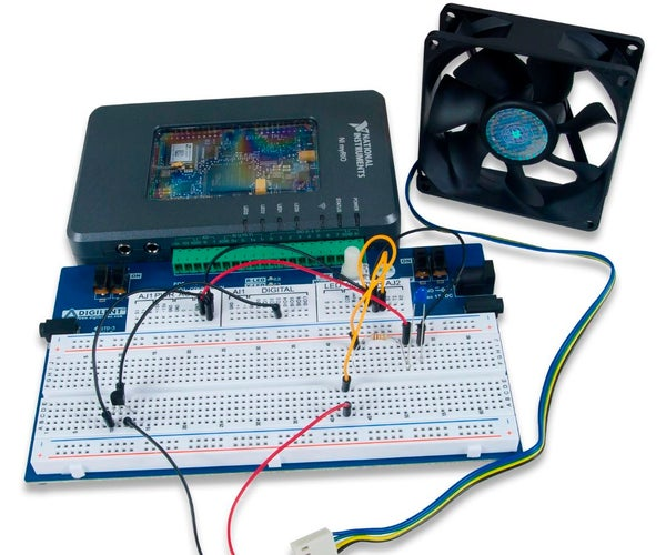 Thermistor - Fan Speed Control Using LabVIEW and MyRIO