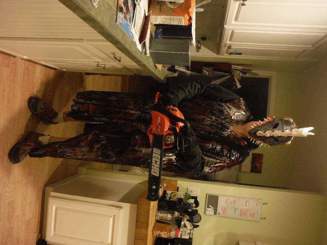 Chainsaw Monster Halloween Costume Prototype