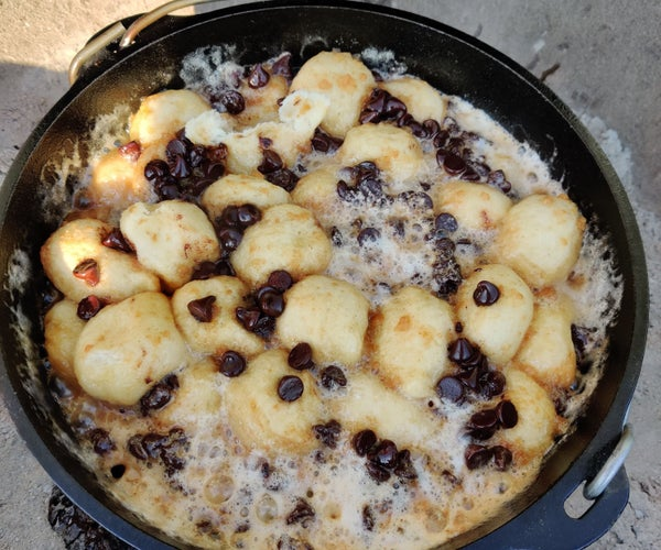 Dutch Oven S'mores Monkey Bread