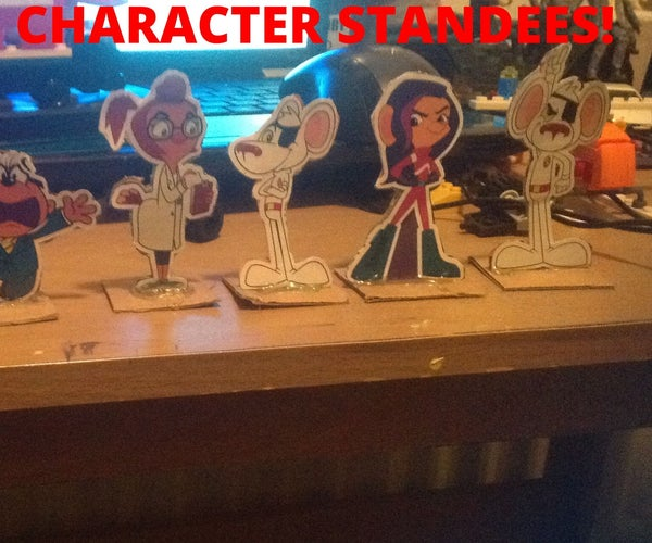 Danger Mouse Mini Character Standees (using Stickers)