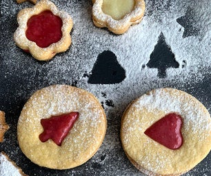 Linzer Cookies With Raspberry Curd