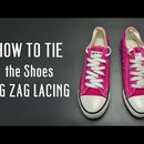 How to tie the shoes ZIG ZAG lacing
