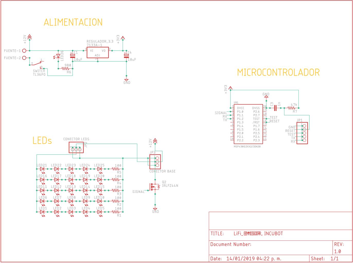 Electrónica Emisor (Esquemático)