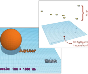 Using Tinkercad Models to Represent Sizes and Distances in Space (Scene Category)
