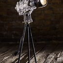 Old Camera Style Lamp made from scrap, Fullmetal