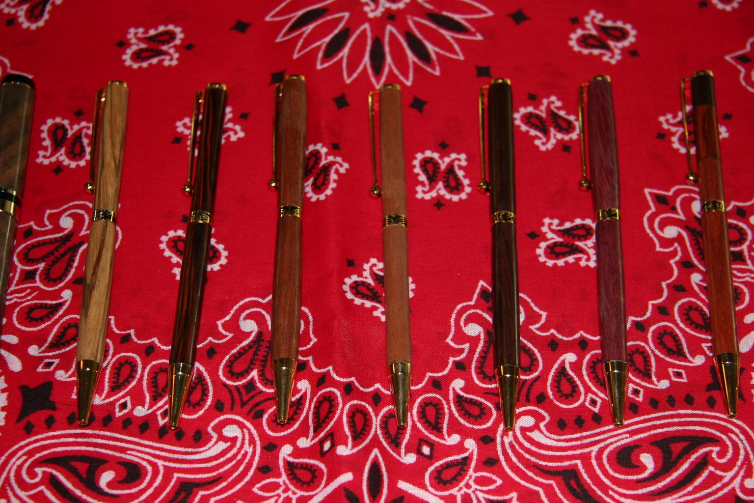Wooden Pens and Other Small Turning Projects