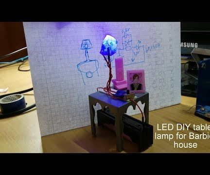 DIY LED Table Lamp for Barbie House