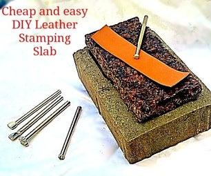DIY Granite Slab for Leather Stamping