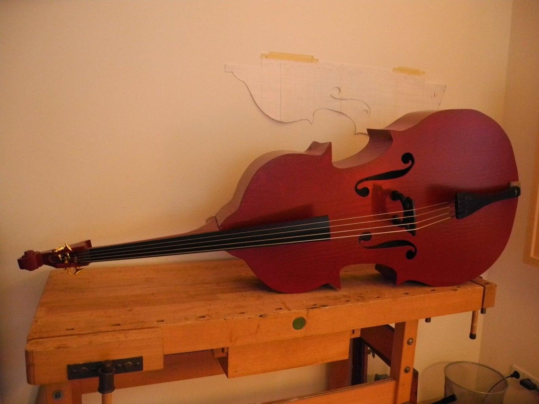 Plywood Upright Bass Kontrabass