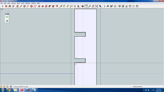 Exporting the Slot Into Inkscape
