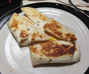 Peanut Butter, Jelly, and Egg Breakfast Wrap