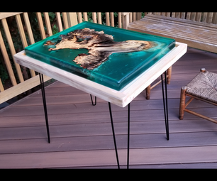 Tropical Epoxy Island Table