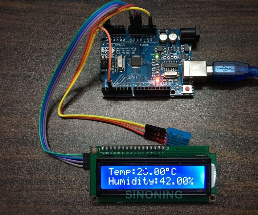 Arduino hygrothermograph Hygrometer kit +LCD1602/I2C+DHT11