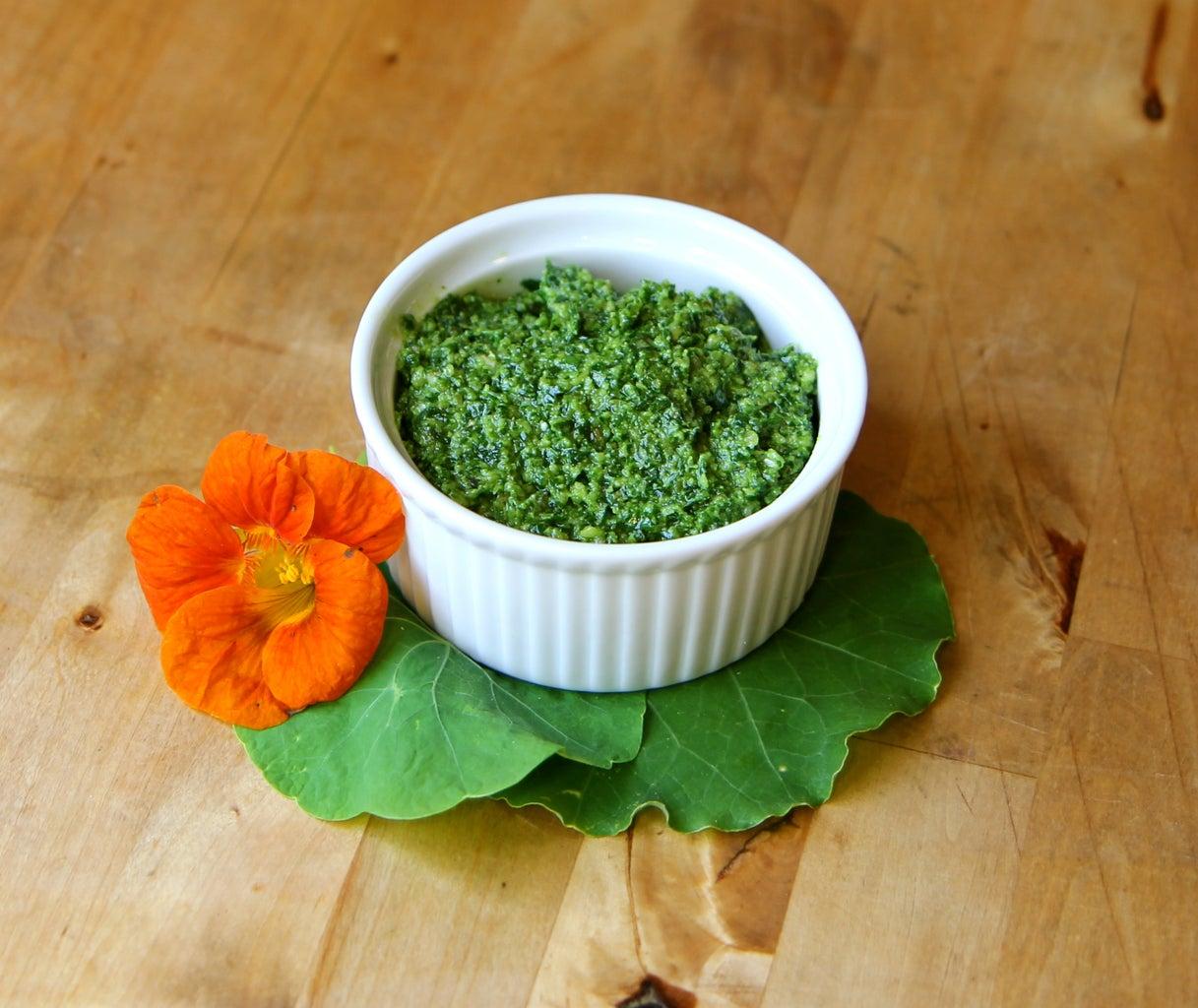 Nasturtium Garden Pesto