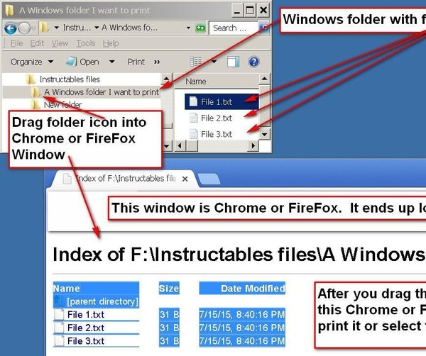 How to Quickly Print the List of Files in a Windows  Folder