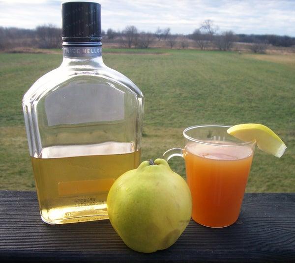 Homemade Quince Liqueur