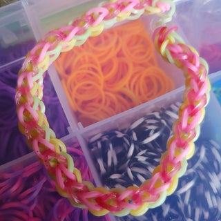 Double Cross Single Rainbow Loom Bracelet