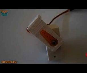 DIY How to Control Servo Motor Angle Using Visuino Sequence Component