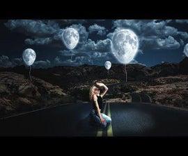 Photo Fantasy Manipulation in Photoshop / Glowing Balloons