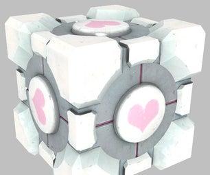 3D Printed LED Portal Companion Cube