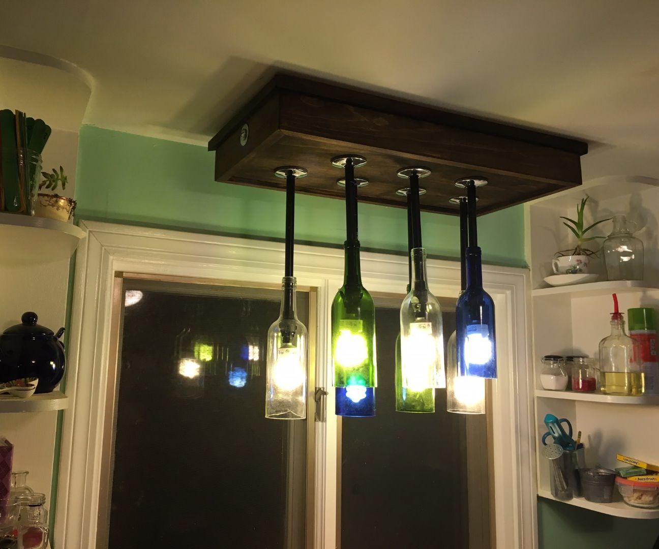 Intro: Wine Bottle Chandelier Light Fixture
