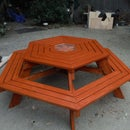 How to Build a Hexagonal Picnic Table