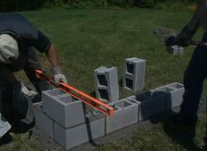 Build a Concrete Block Wall