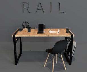 Rail Desk Organizer