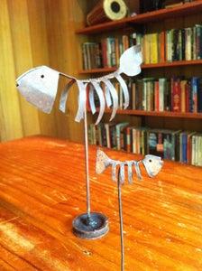 Junkyard Fish-bone Sculpture