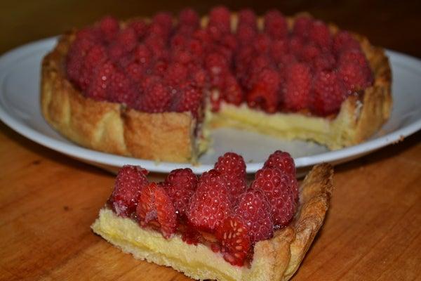 ITALIAN RICOTTA RASPBERRIES CAKE