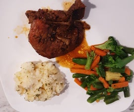 How to Make Porkchops, Mashed Potatoes and Vegetables.