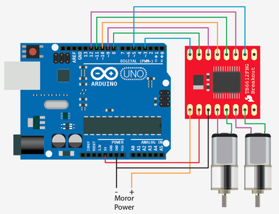 Connections Between Arduino Nano and Motor Diver